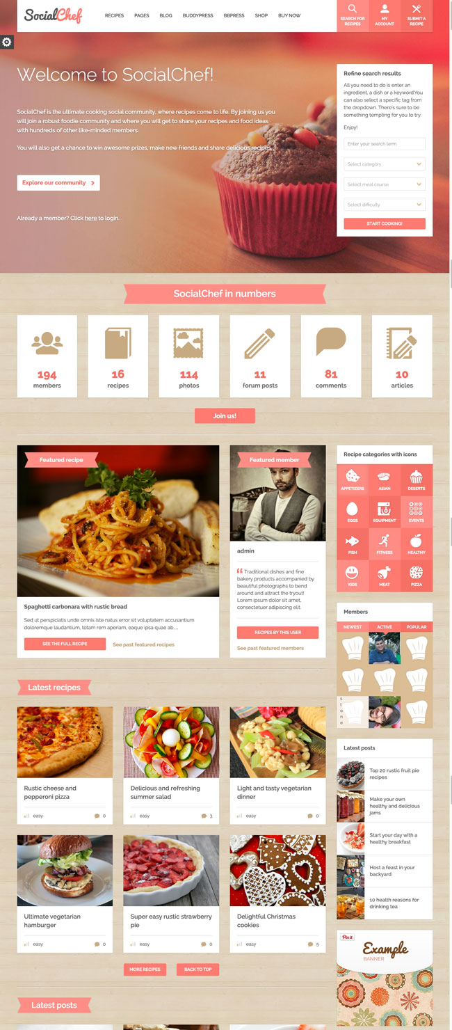 SocialChef-Social-Recipe-WordPress-Theme