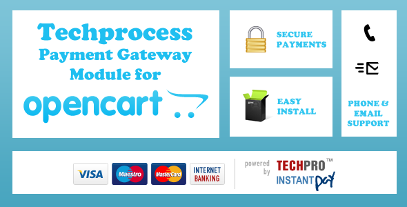 Techprocess Payment Gateway Module For Opencart