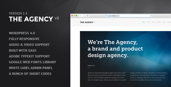 The Agency v2 - WordPress Theme for Agencies