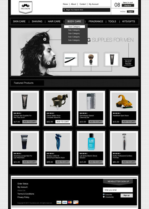 The-Stache-Ecommerce-Templates