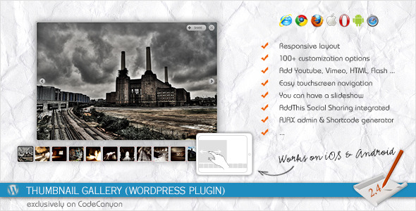 Thumbnail Gallery-WordPress Plugin