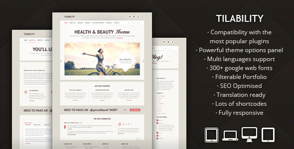 Tilability - Responsive Health & Beauty WP theme