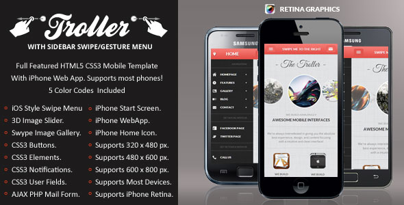 Troller-Mobile-Retina-HTML5-CSS3-And-iWebApp