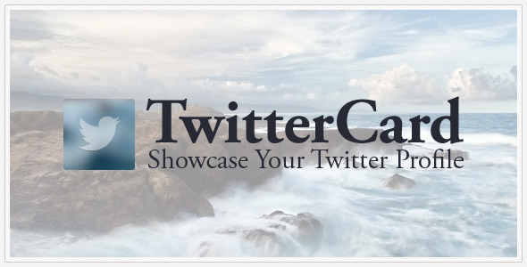 TwitterCard-Showcase your Twitter
