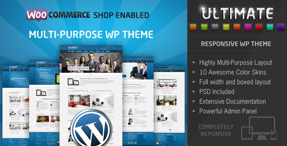 Ultimate-Multi Purpose Responsive WP Theme