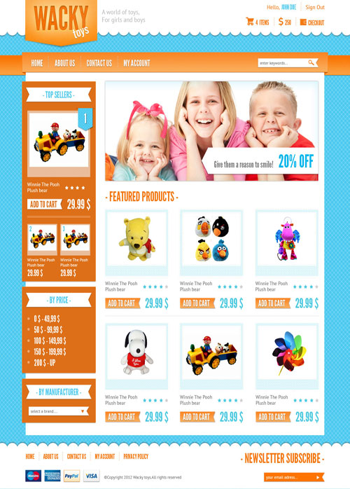 Wacky-Toys-Ecommerce-Templates
