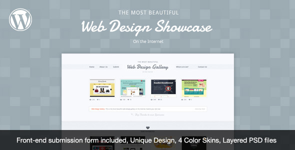 Web Design Showcase - WordPress Theme