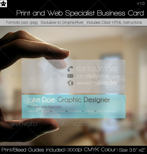 Web Specialist Business Card
