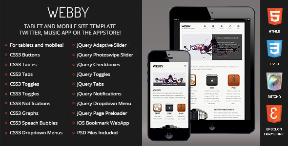 Webby-Mobile-Tablet Responsive Template