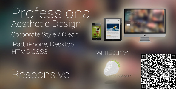 White Berry Responsive Business Mobile Template