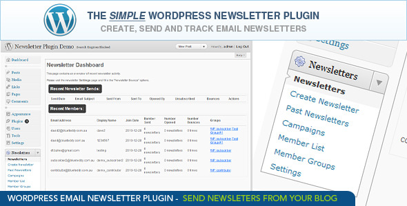WordPress Email Newsletter