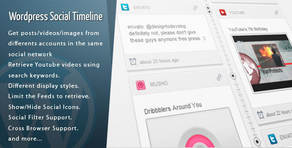 Wordpress Social Timeline