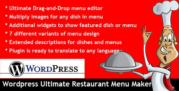 Wordpress Ultimate Restaurant Menu Maker