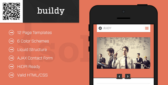 buildy-Mobile HTML-CSS Portfolio Template