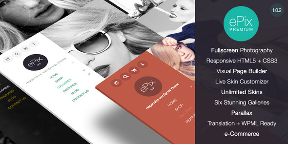 ePix - Responsive Fullscreen Photography Theme