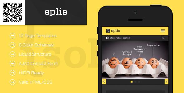 eplie-Mobile HTML-CSS Portfolio Template