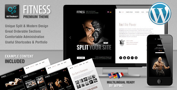 25+ Best Sport & Fitness WordPress Themes 2015