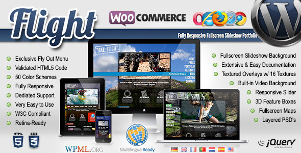 flight-responsive-fullscreen-background-theme