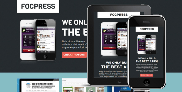 focpress-responsive-app-builder-landing-page