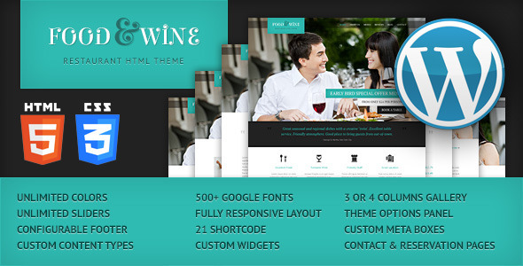 food-wine-responsive-wordpress-theme