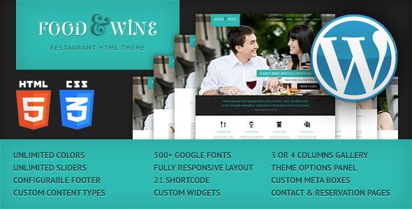 food-wine-responsive-wordpress-theme
