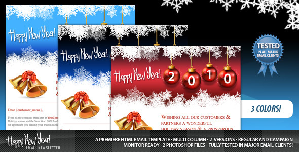 20 Best New Year Newsletter Templates 2014 Designmaz