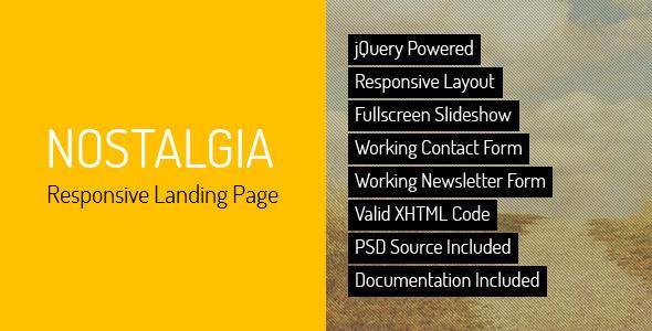 nostalgia-responsive-landing-page