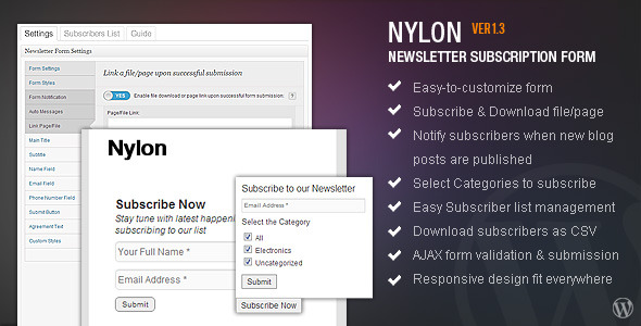 nyLON Subscription form
