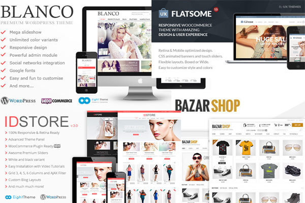 Responsive eCommerce WordPress Themes