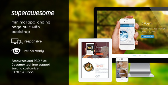 superawesome-retina-bootstrap-app-landing-page
