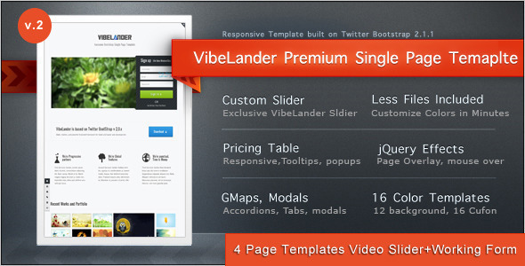 vibelander-one-page-responsive-template