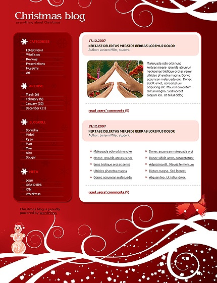wordpress-Christmas-blog-theme