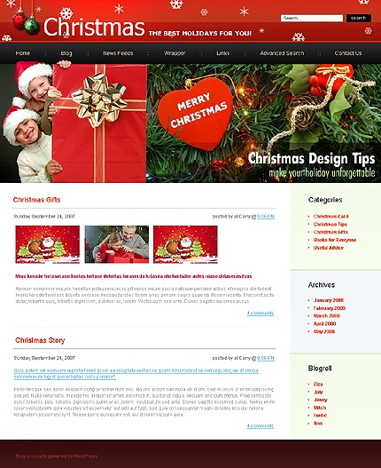 wordpress-Christmas-blog-theme3
