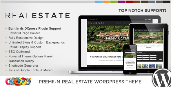 35+ Best Responsive Real Estate WordPress Themes 2016