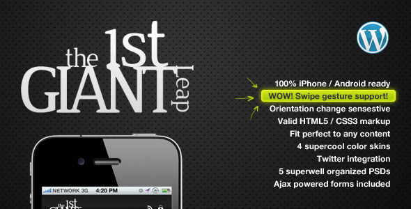 1stgiantleap-mobile-template-wordpress-edition