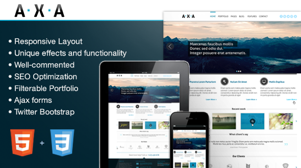 AXA – Premium Responsive HTML Theme