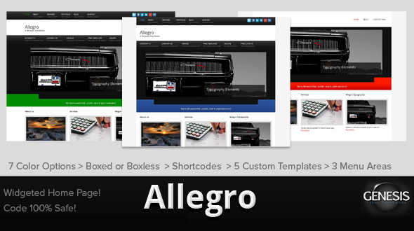 Allegro Genesis Child Theme