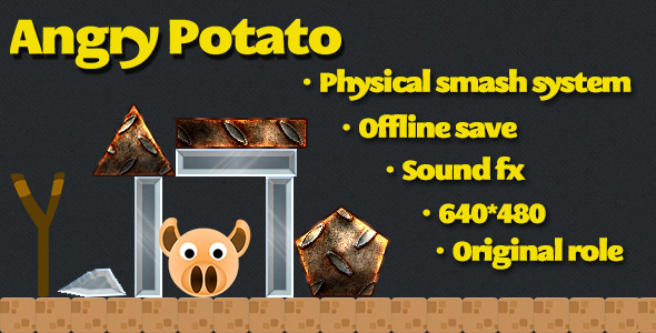 Angry Potato html5 game
