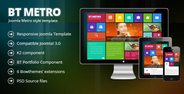 BT Metro - Responsive joomla 3-template