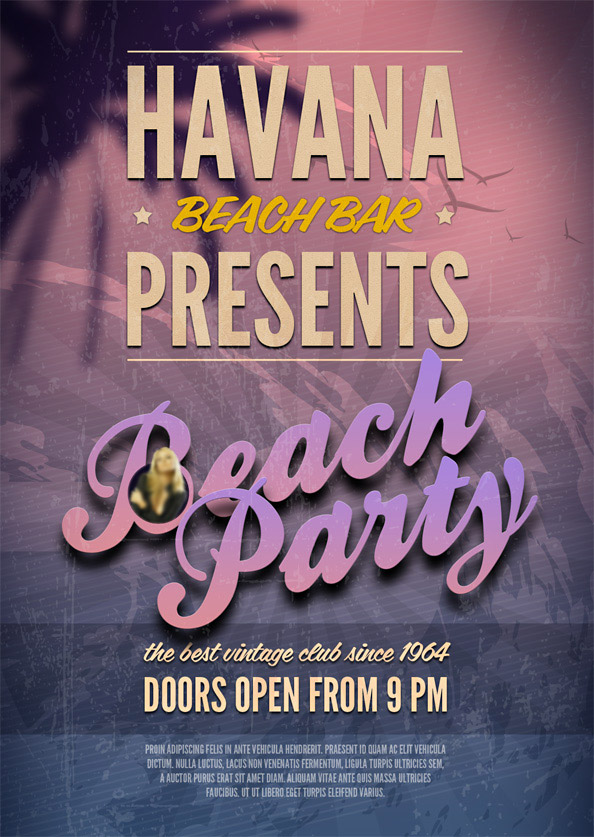 best flyer psd templates designmaz beach party psd flyer template preview big1