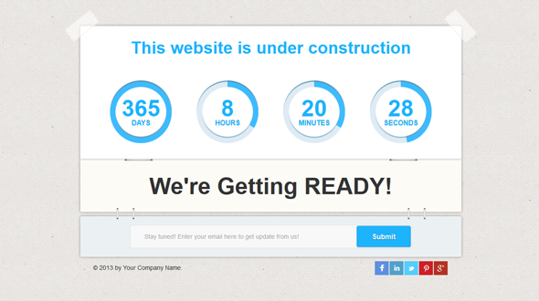 BizComing – BootStrap coming soon page template