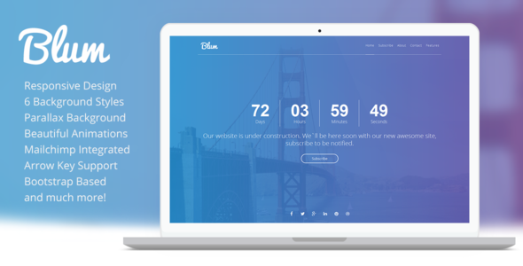 Blum - Responsive Coming Soon Template