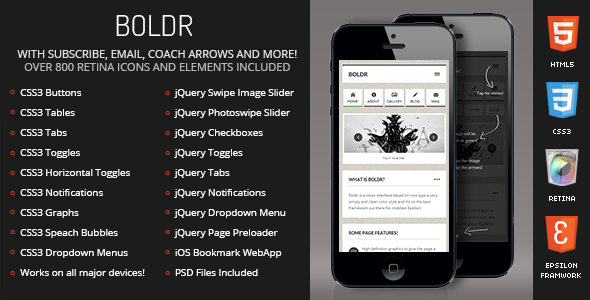 Boldr Mobile Retina-HTML5-CSS3 And iWebApp