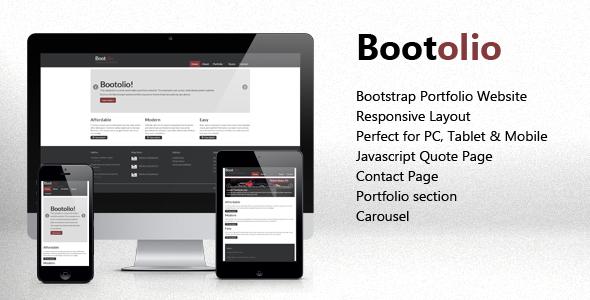 Bootolio - Bootstrap Portfolio Responsive Skin
