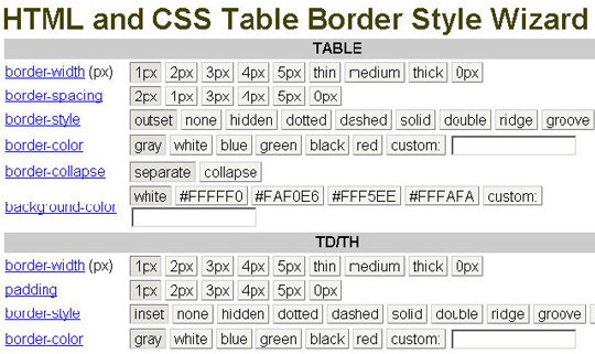25 best free css generator designmaz for Best table css