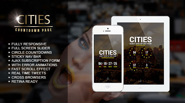 Cities Responsive Coming Soon Page