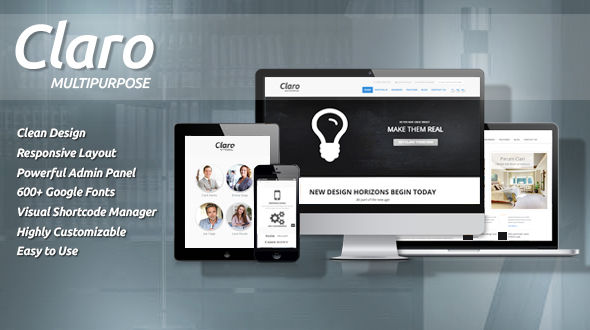 Claro-Clean and Responsive Multipurpose Theme