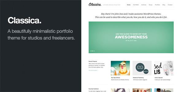 Classica-Minimalistic WordPress Portfolio Theme