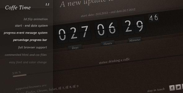 Coffe Time - Sprite Countdown Flip