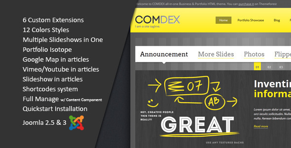 ComDex-Clean and Modern Joomla Template
